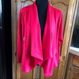 Relativity Red Ponte Knit Blazer Jacket 1X